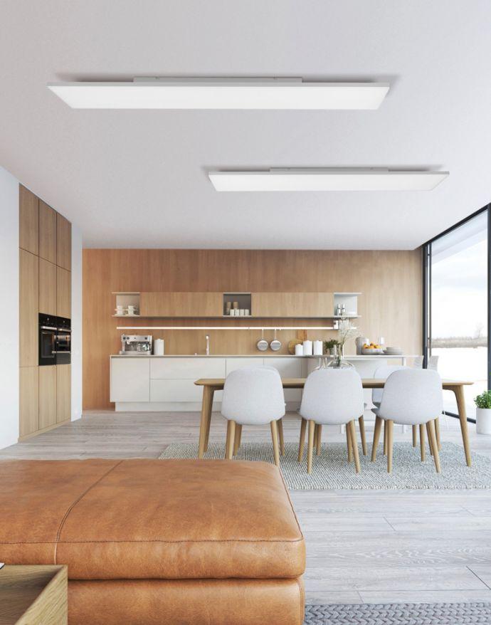 LED Panel, weiß, rahmenlos,100x25cm, CCT, dimmbar, blendfreies Licht