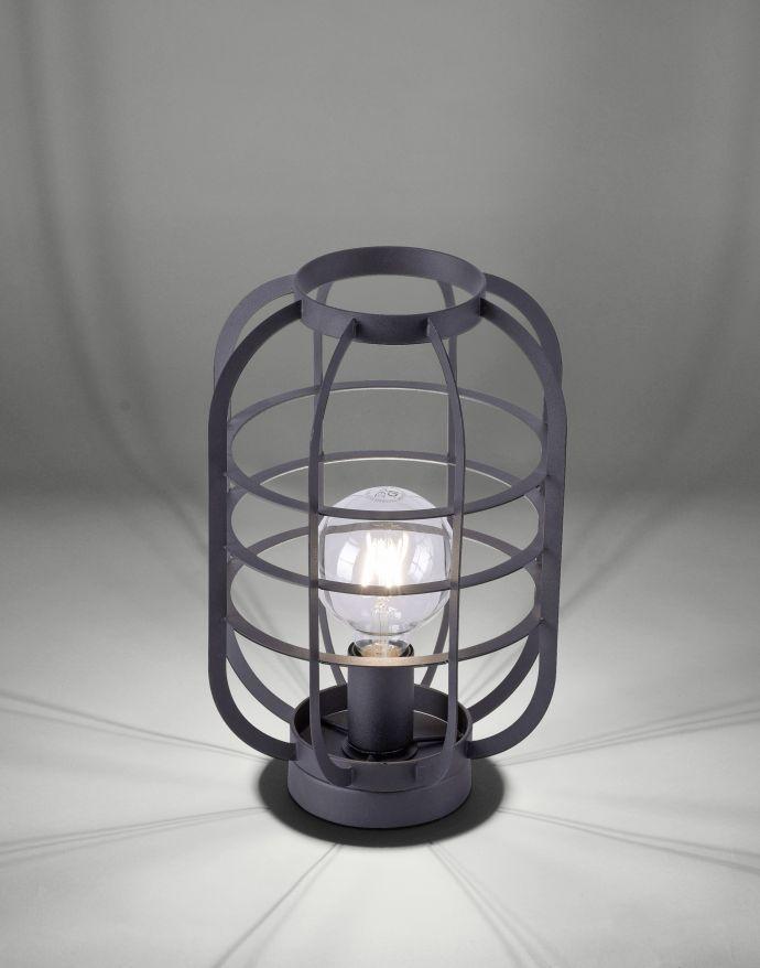 Tischleuchte, schwarz, Industrial-Stil, Cage-Optik, E27, dekorativ