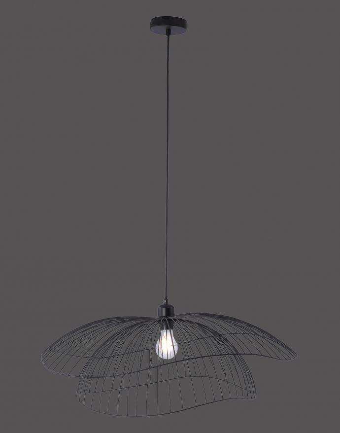 Pendelleuchte, Industrial Stil, schwarz, Cage-Optik, E27 Fassung, modern