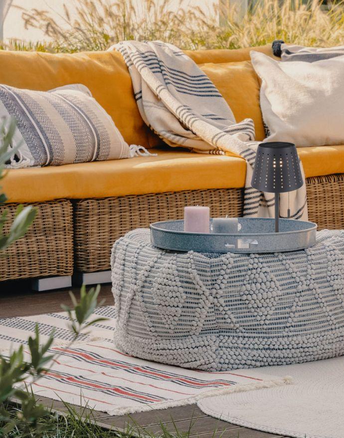 LED Tischleuchte, anthrazit, modern, inkl. Zugschalter, solarbetrieben