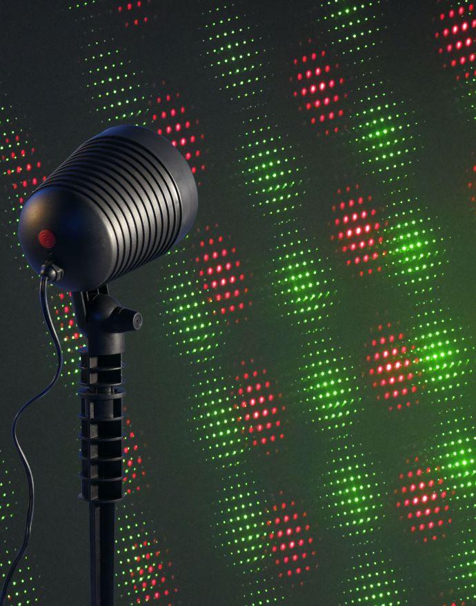 Erdspießleuchte, Laserleuchte, schwarz, IP44, bunte Lichteffekte