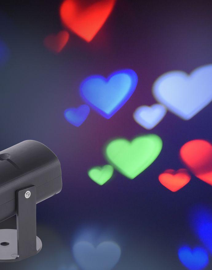 LED Tischprojektor, Motivdias, eindrucksvolle Lichtakzente, stimmungsvoll