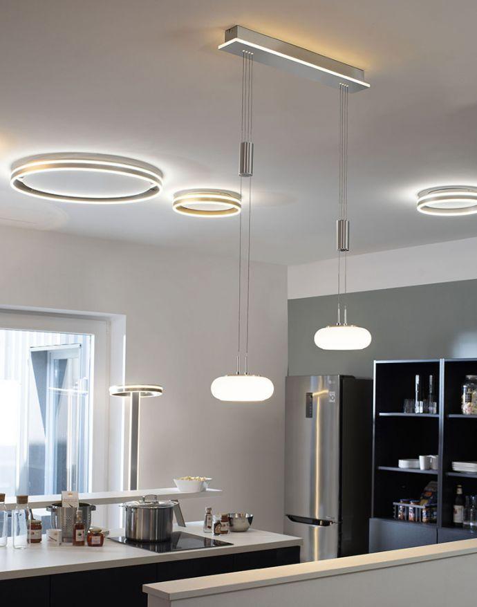 Paul Neuhaus, Q-ETIENNE, LED-Pendelleuchte, stahl, 2fla., Smart Home