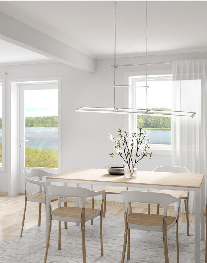 LED-Pendelleuchte, warmweiße Lichtfarbe, Dimmfunktion, höhenverstellbar