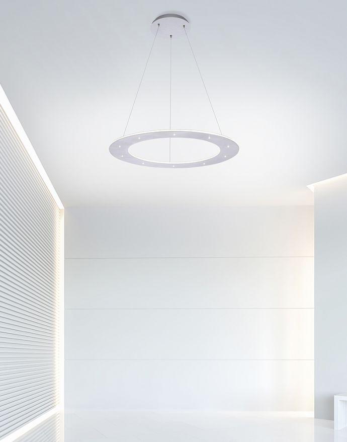 PURE-COSMO, LED-Pendelleuchte, puristisches Design, Lichtfarbensteuerung