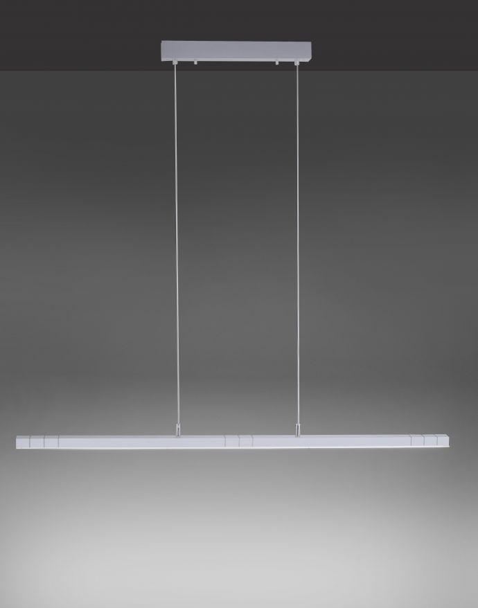Paul Neuhaus, Q-VIOLA, LED-Pendelleuchte, linear, aluminium, Smart Home