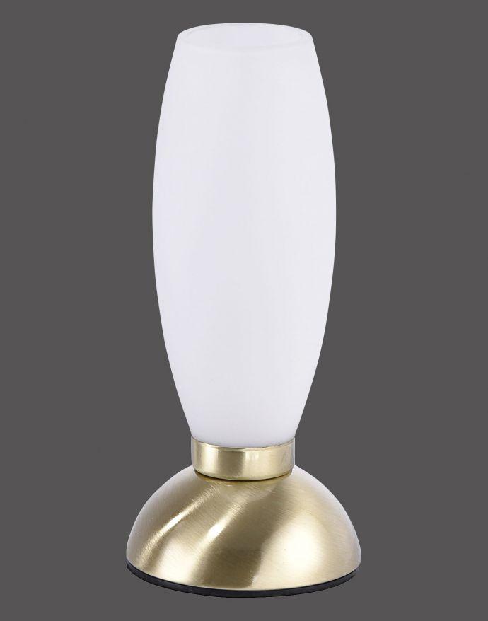 LED-Tischleuchte, messing-matt, warmweiß, inkl. Touchdimmer, blendfrei