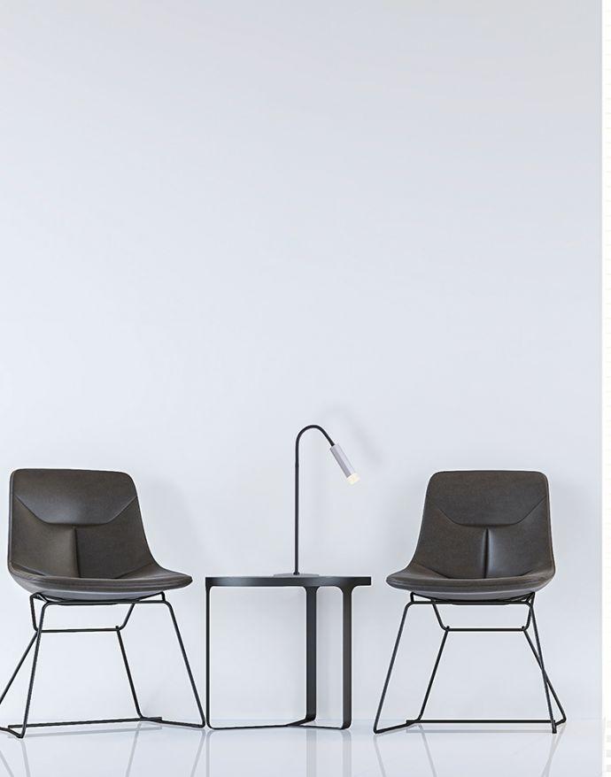 PURE-GEMIN, LED-Tischleuchte, schwarz, aluminium, gebürstet