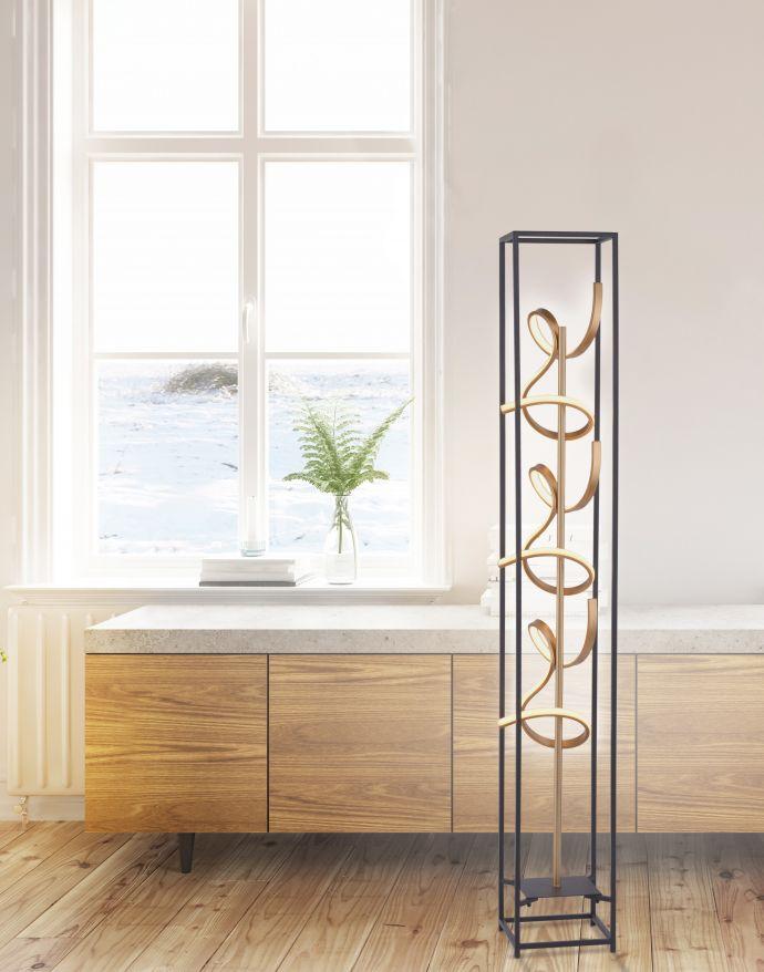 LED Stehleuchte, modernes Design, warmweißes Licht, inkl. Dimmfunktion