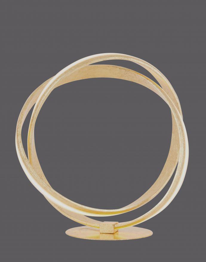 LED-Tischleuchte, goldfarben, elegantes Design, inkl. Dimmfunktion, modern