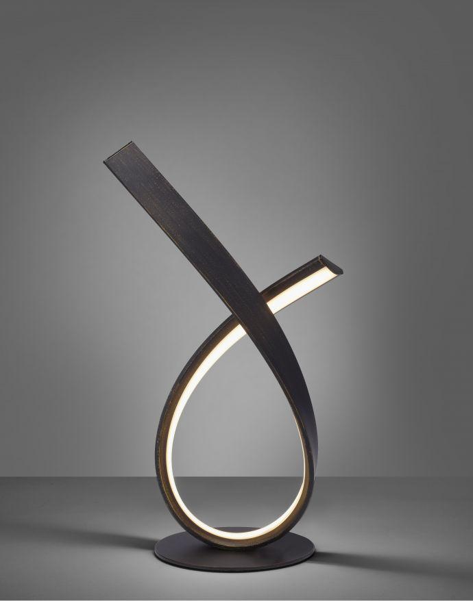 LED-Tischleuchte, 2 geschwungene Leuchtarme, warmweiß, inkl. Schnurdimmer