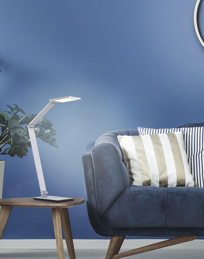 Paul Neuhaus, Q-HANNES, LED-Tischleuchte, Aluminium-Design, Smart Home