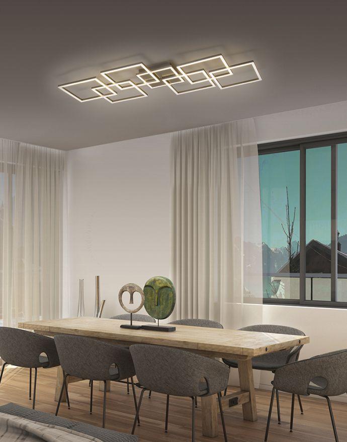 Paul Neuhaus, Q-INIGO, LED-Deckenleuchte, stahl, 107x50cm , CCT, Smart Home