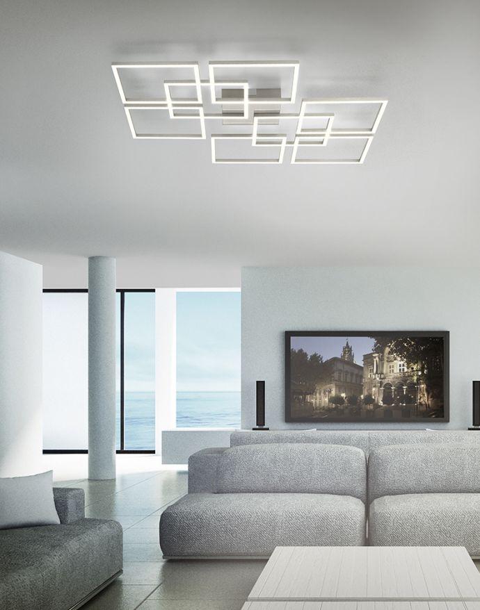 Paul Neuhaus, Q-INIGO, LED-Deckenleuchte, stahl, 79x76cm , CCT, Smart Home