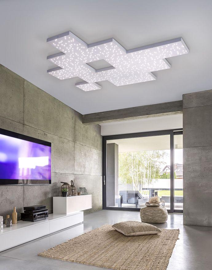 Q-UNIVERSE LED-Deckenleuchte, Smart Home, 30x30cm, Sternenhimmel Effekt, Master