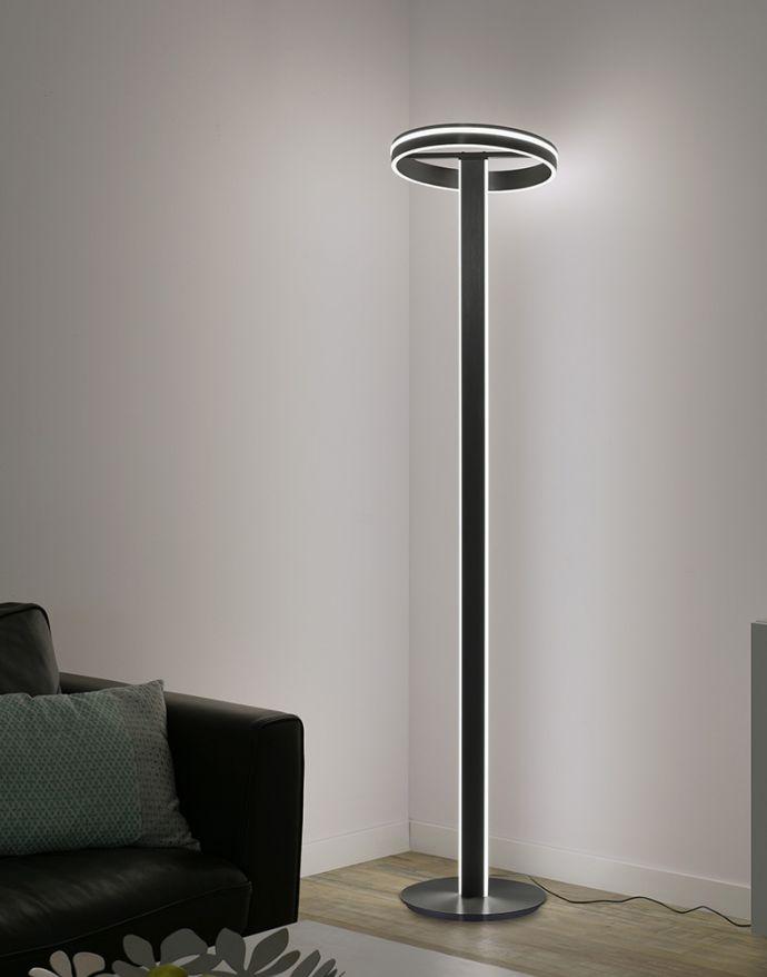 Paul Neuhaus, Q-VITO, LED-Stehleuchte, anthrazit, dimmbar, Smart Home