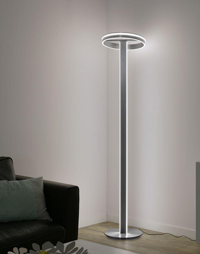 Paul Neuhaus, Q-VITO, LED-Stehleuchte, stahl, dimmbar, Smart Home