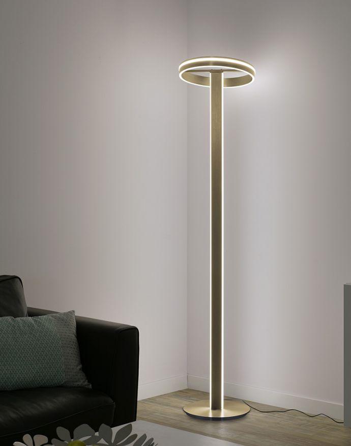 Paul Neuhaus, Q-VITO, LED-Stehleuchte, messing matt, dimmbar, Smart Home