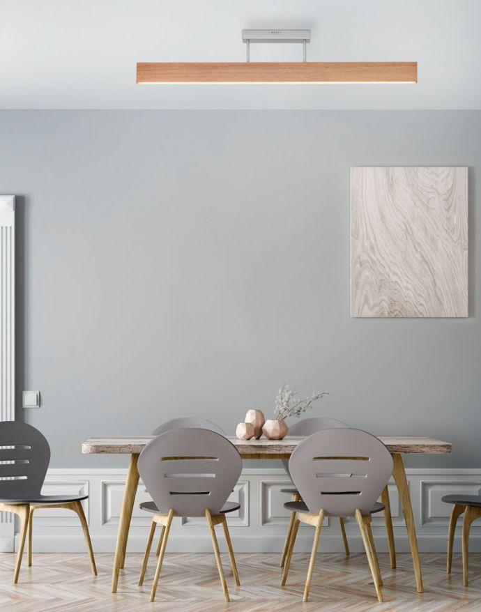 Paul Neuhaus, Q-TIMBER, LED-Deckenleuchte, Eichenholz, dimmbar, Smart Home