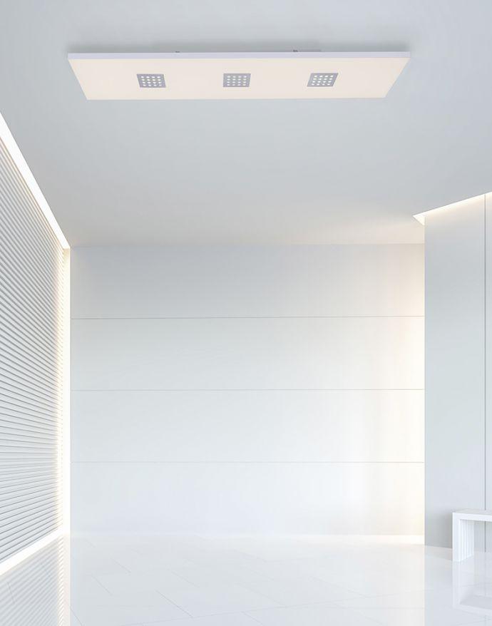PURE-NEO, LED-Panel, alu-gebürstet, 120x30cm, CCT, blendfreies Licht