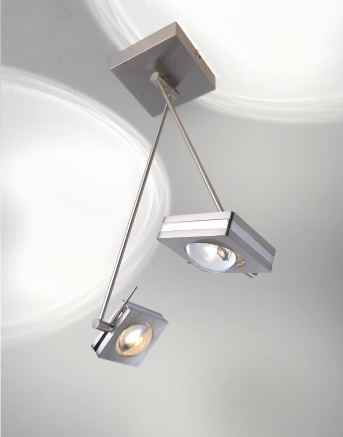 Paul Neuhaus, Q-FISHEYE, LED-Deckenleuchte, 2-flg, stahl, Smart Home (Auslauf)