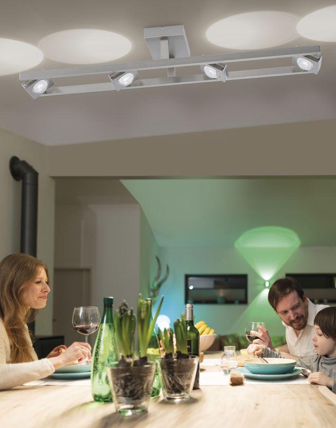 Paul Neuhaus, Q-FISHEYE, Deckenleuchte, stahl, 4-flg, Smart Home (Auslauf)