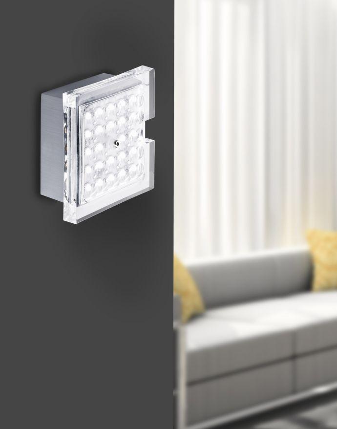 LED Deckenleuchte, quadratisch, spritzwassergeschützt,  Acrylglaseinsatz