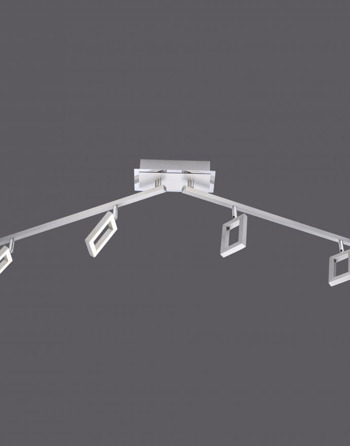 LED-Deckenstrahler, stahl, 4 verstellbare Leuchtköpfe, warmweiß, dimmbar