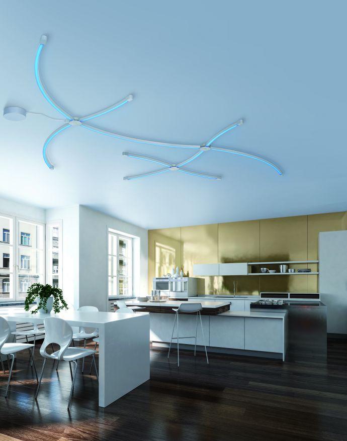 Paul Neuhaus, Q-SPIDER, Lichtprofil, gebogen, CCT-Steuerung, Smart Home
