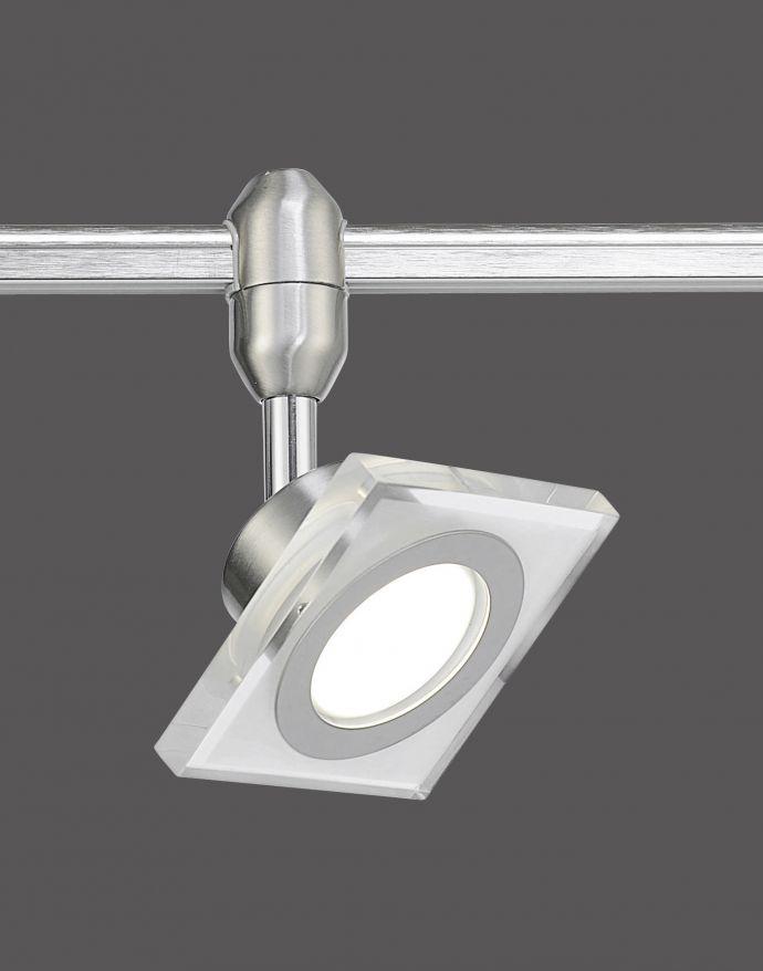LED-Spot, Schienensystem, warmweiße Lichtfarbe, Dimmfunktion, verstellbar