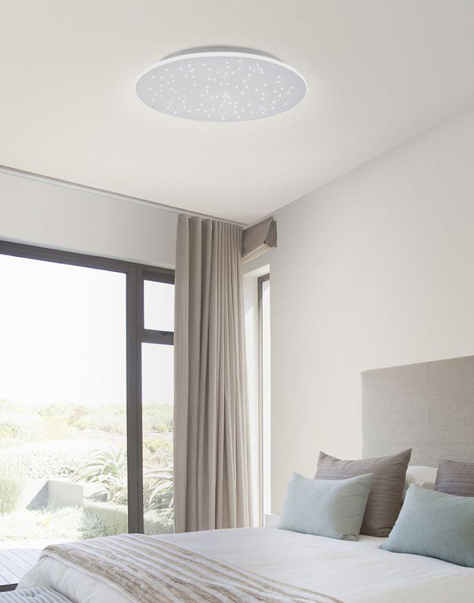 Paul Neuhaus, Q-NIGHTSKY, LED-Deckenleuchte, Ø 48,5 cm, Sternenhimmel, Smart Home