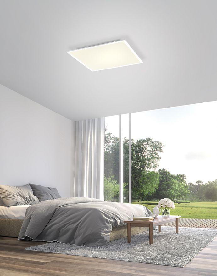 Paul Neuhaus, Q-FLAG, LED-Panel, 62x62cm, CCT, flach, dimmbar, Smart Home