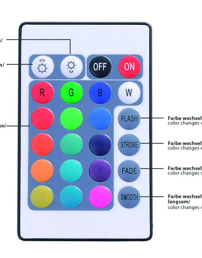 LED-Lichtstreifen, mehrfarbig, RGB Farbwechsel, Fernbedienung, Dimmfunktion