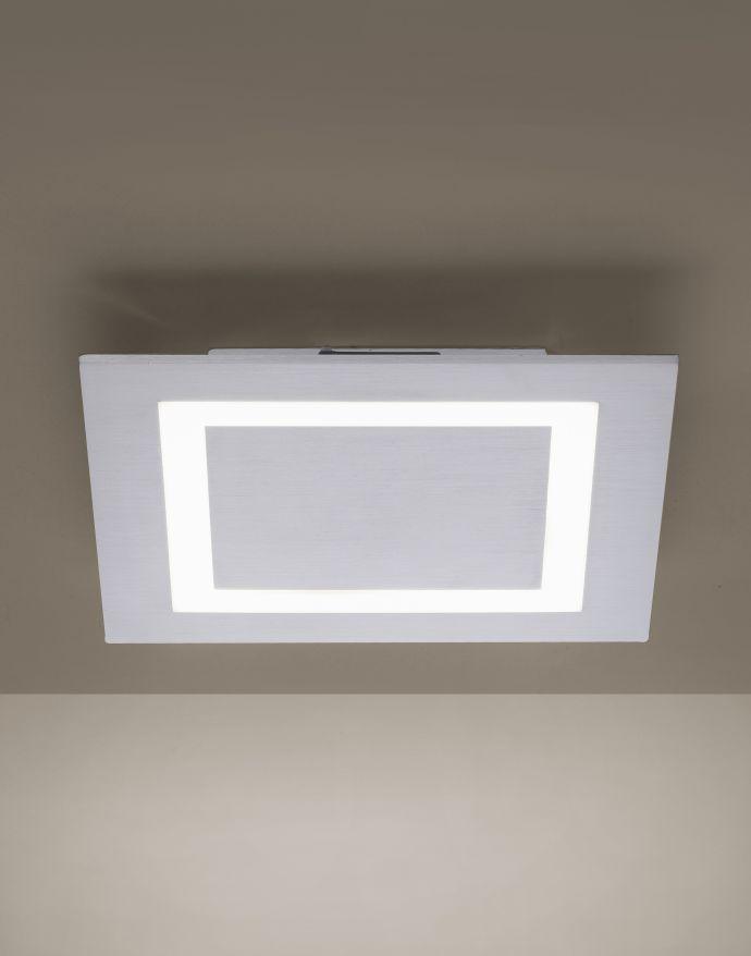Paul Neuhaus, Q-MIRAN, Smart Home, LED-Deckenleuchte, 30x30cm, Fernbedienung, aluminium