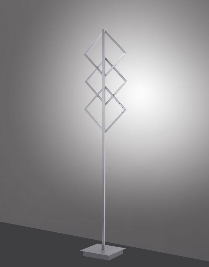 LED-Stehleuchte, stahl, Lichtfarbsteuerung, Fernbedienung, Dimmfunktion