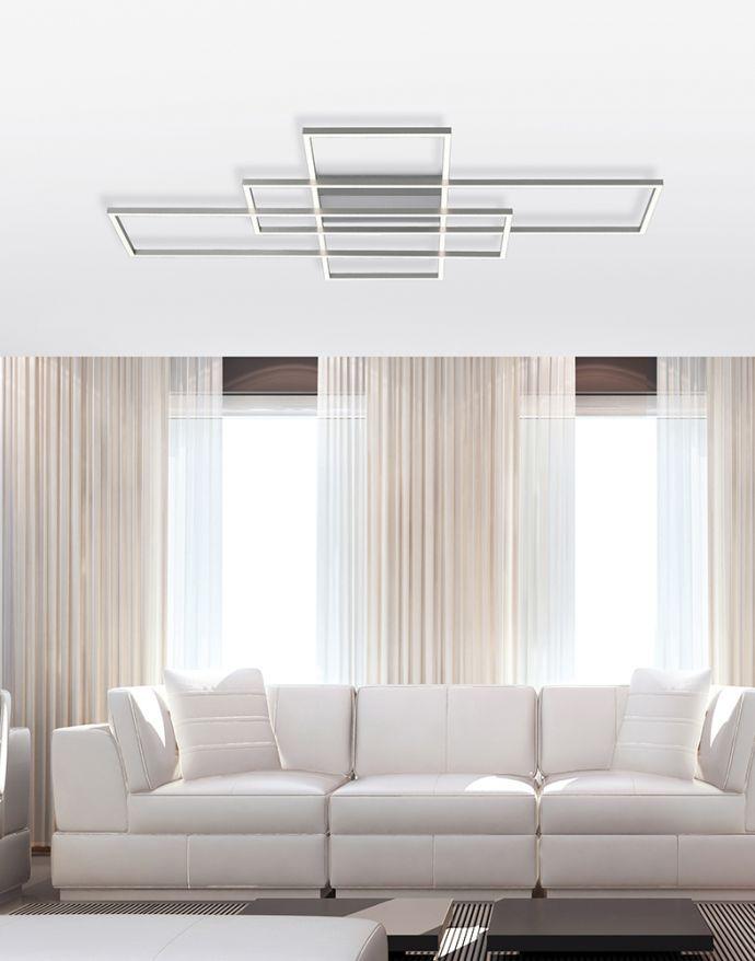 Paul Neuhaus, Q-INIGO, 100x75cm, LED-Deckenleuchte, dimmbar, Smart Home