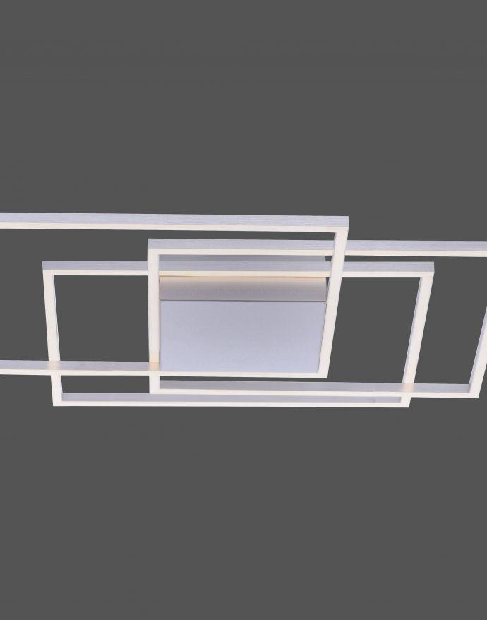 LED-Deckenleuchte, stahl, warmweiße Lichtfarbe, inkl. Dimmfunktion, modern