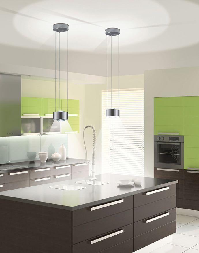 Paul Neuhaus, Q-LENS, LED-Pendelleuchte, konvexe Glasoptik, dimmbar, Smart Home