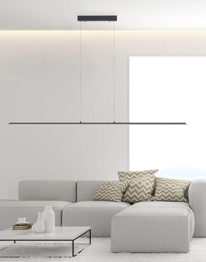 PURE-LITE, LED-Pendelleuchte, anthrazit, gebürstet, Lichtfarbensteuerung