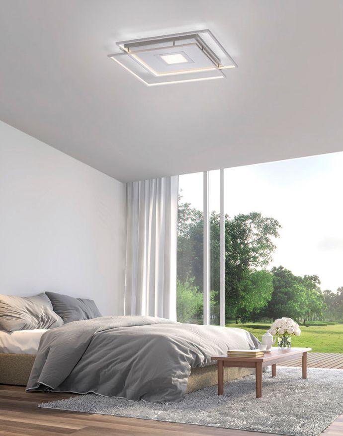 Paul Neuhaus, Q-AMIRA, LED-Deckenleuchte, stahlfarben, dimmbar, Smart Home fähig