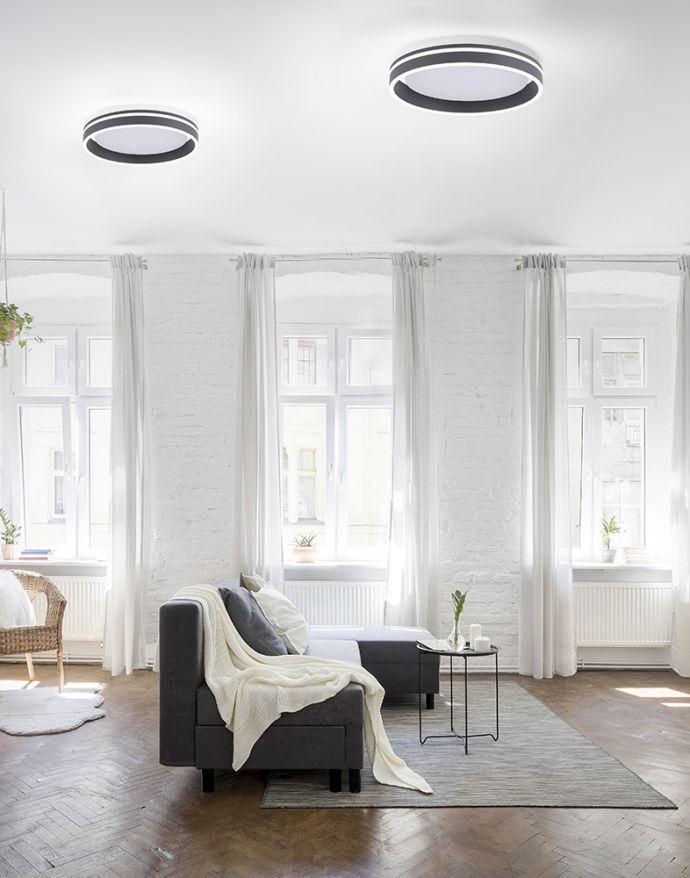 Paul Neuhaus, Q-VITO, LED-Deckenleuchte, anthrazit, Ø 40cm, rund, Smart Home