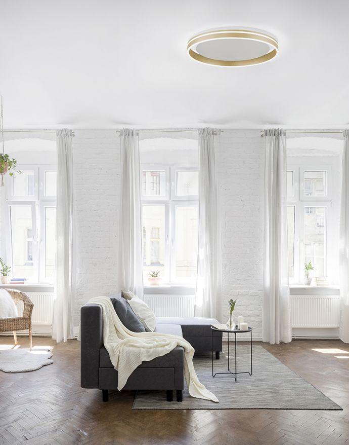 Paul Neuhaus, Q-VITO, LED- Deckenleuchte, Ø59cm, messing matt, Smart Home