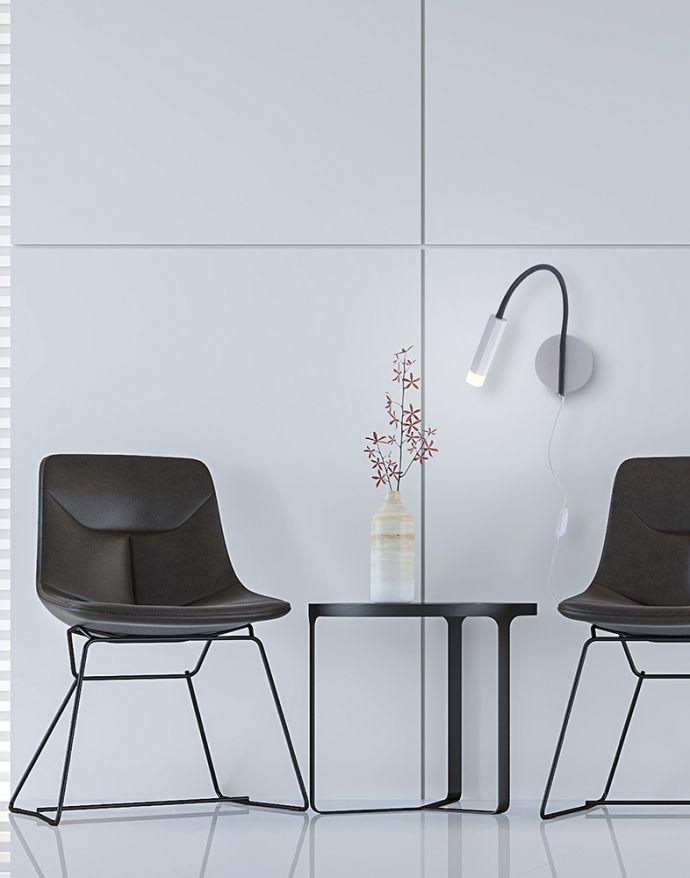 PURE-GEMIN, LED-Wandleuchte, puristisches Design, warmweißes Licht