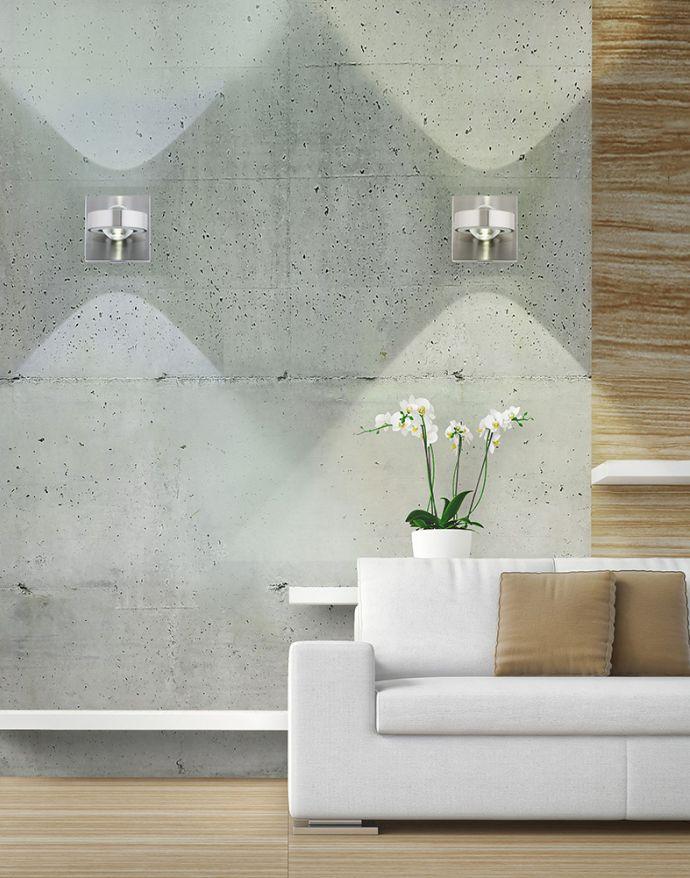 Paul Neuhaus, Q-MIA, LED Wandleuchte, alufarbig, Smart Home