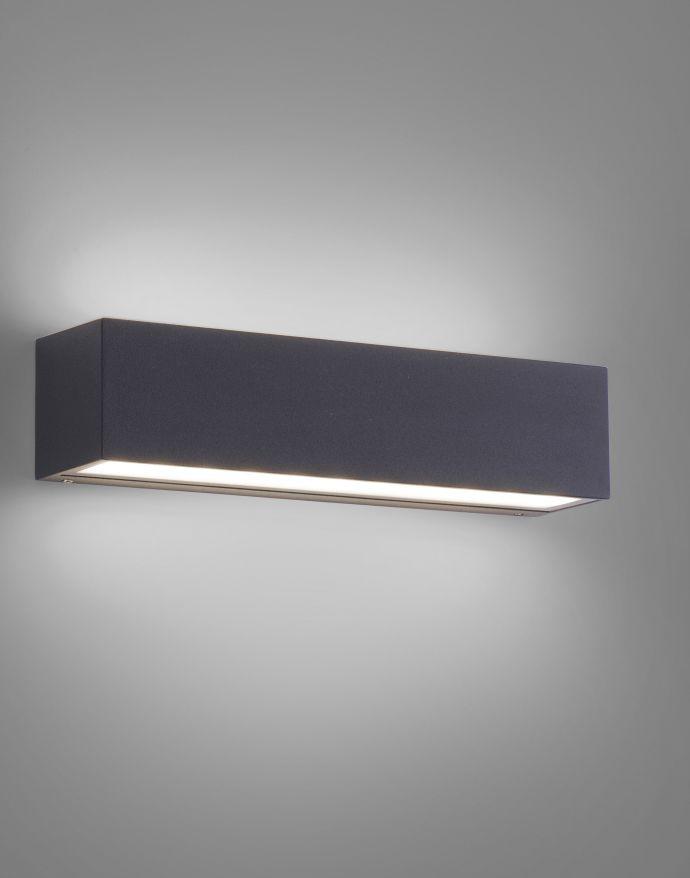 LED Außenwandleuchte, anthrazitfarben, spritzwassergeschützt, warmweiß