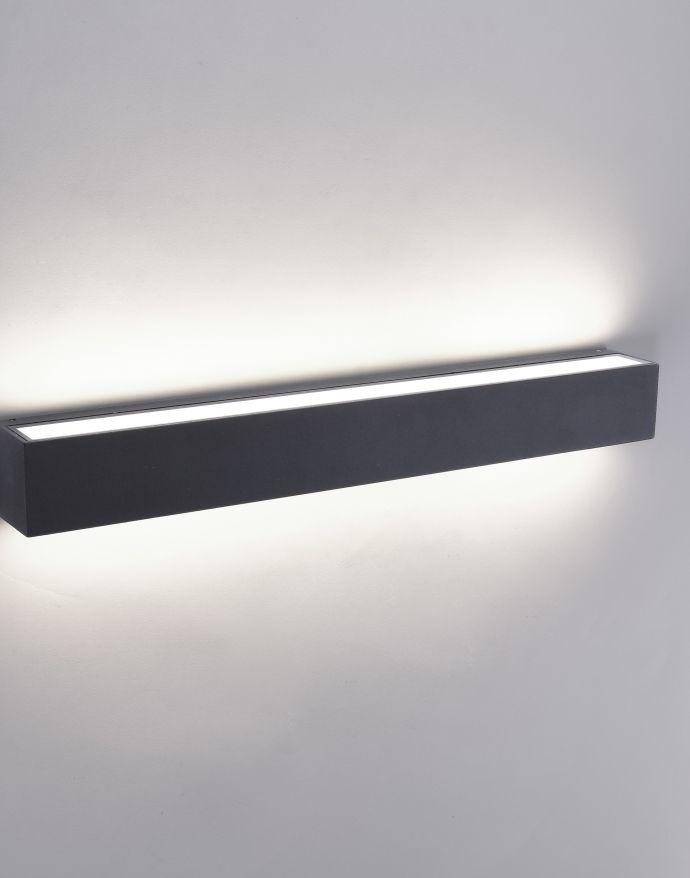 LED Außenwandleuchte, anthrazitfarben, eckig, modernes Design, IP65