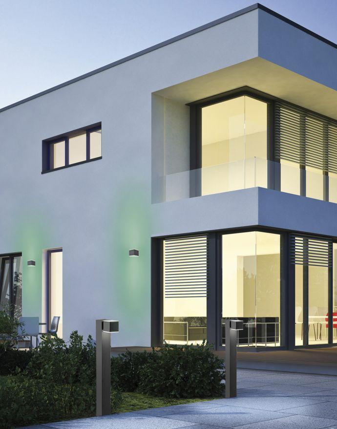 Paul Neuahus, Q-AMIN, LED-Außenwandleuchte, anthrazit, IP44, Smart Home