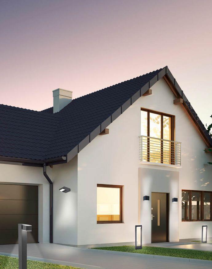 Paul Neuhaus, Q-AMIN, LED-Außenwegeleuchte, anthrazit, IP44, dimmbar, Smart Home