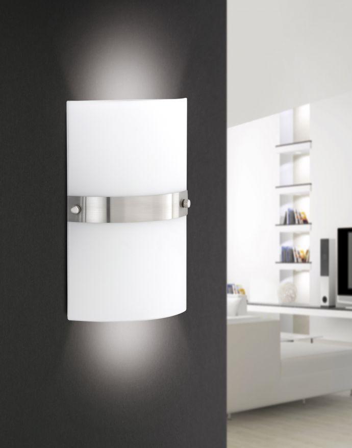 LED Wandleuchte, Opalglas, E14, blendfreies Licht